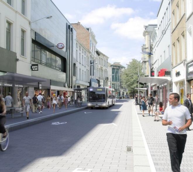 La chaussée d'Ixelles interdite aux voitures en 2018