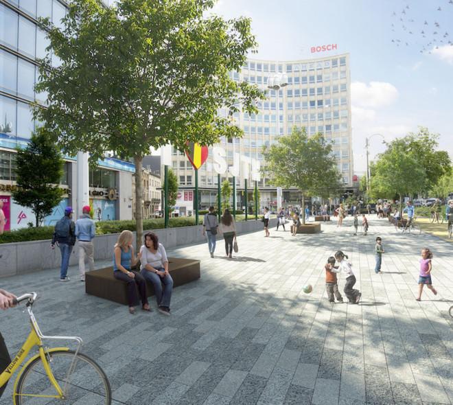 La future Esplanade Madou