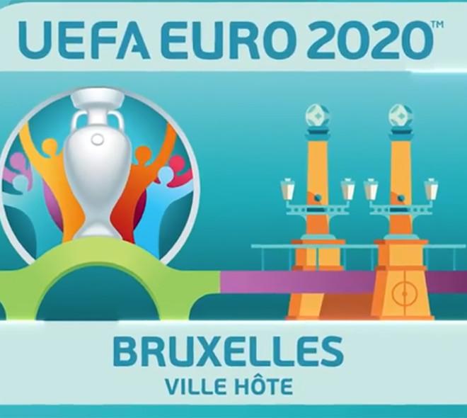 Le logo de l'Euro 2020 à Bruxelles est connu
