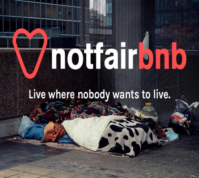 NotFairBnb: Louez la couchette d'un sans abri