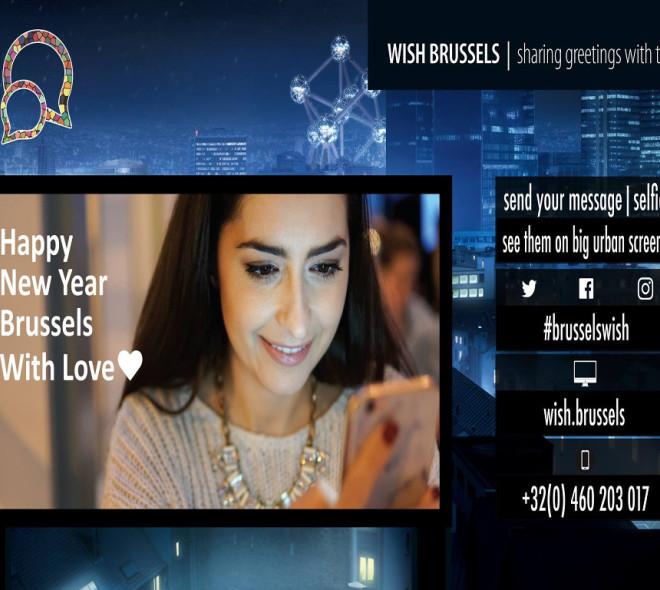 BrusselsWish: souhaitez une bonne année aux bruxellois sur des écrans géants