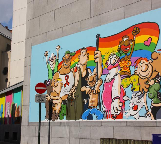 Bruxelles ville de fresques: BD ou Graffiti?