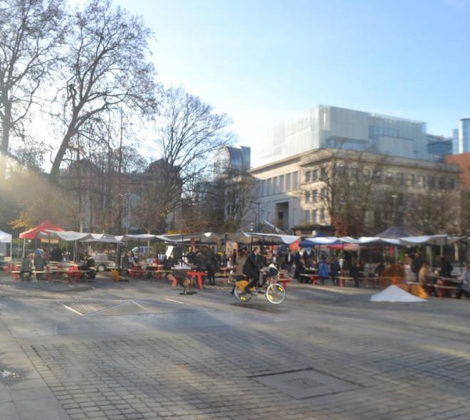 L'European Canteen Market sur la Place Jean Rey !