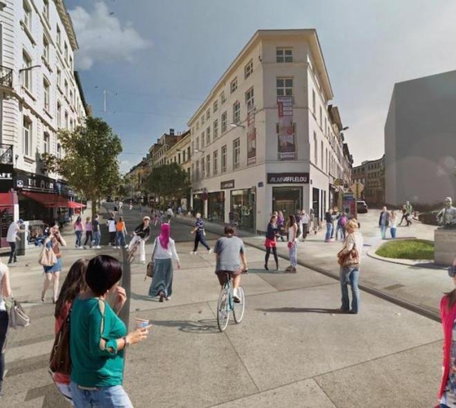 Les travaux de réaménagement de la chaussée d'Ixelles ont commencé