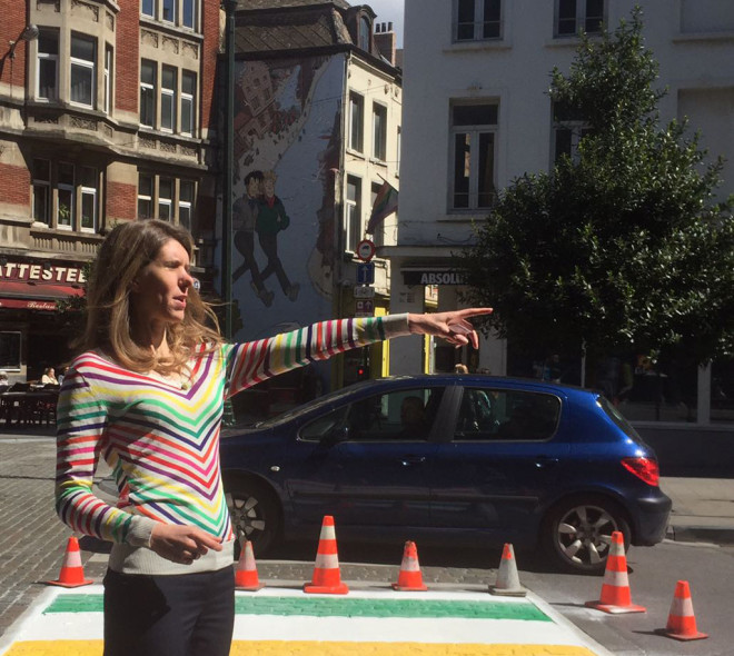 Des passages piéton arc-en-ciel en centre-ville pour célébrer la Belgian Pride