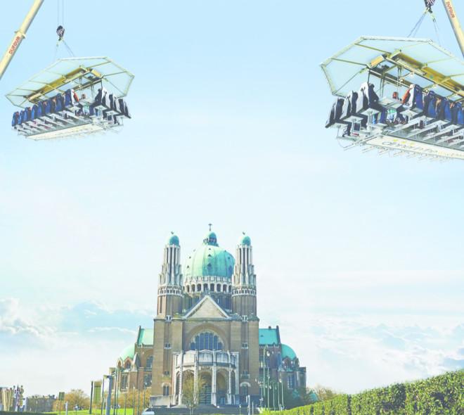 Dinner in the sky : 14 Chefs étoilés pour la 1ère fois dans le ciel de la Basilique !