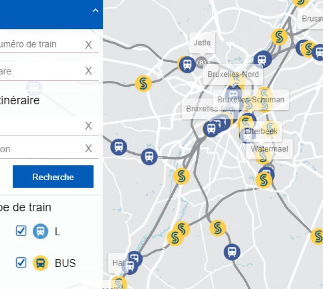 Train Map : suivez en temps réel les trains de la SNCB
