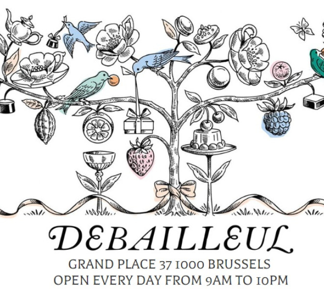 Debailleul: le nouveau pâtissier - tearoom de la Grand-Place de Bruxelles