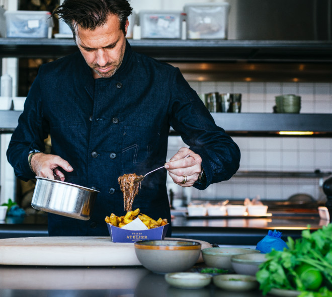 Sergio Herman part à l'assaut de Bruxelles avec son atelier entièrement dédié à l'art de la patate