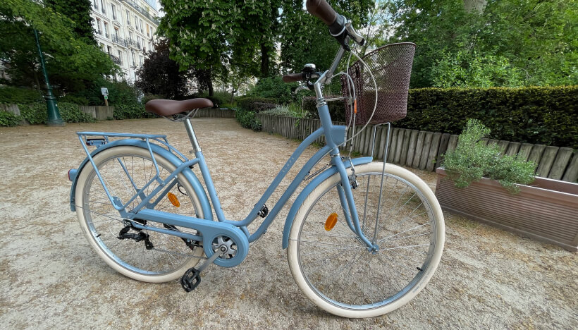 Photo du vélo Elops 520 que nous avons commandé sur le site Decathlon Seconde Vie