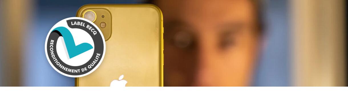 Label RCube sur un iPhone 12