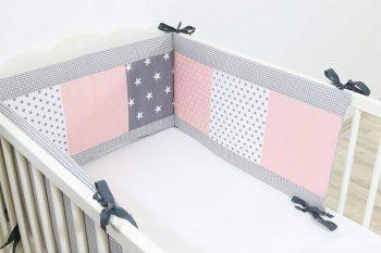 ULLENBOOM Gris Rose tour de lit pour bébé