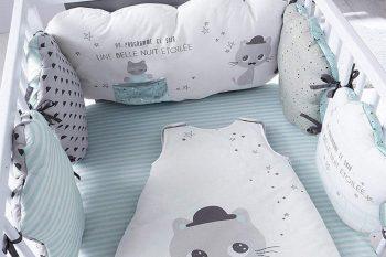 Vertbaudet Moustachat tour de lit pour bébé