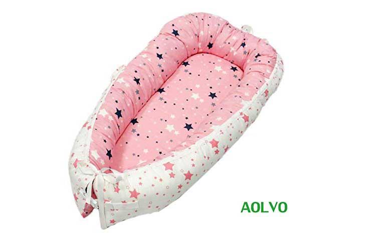 AOLVO Nid de Bébé réducteur de lit