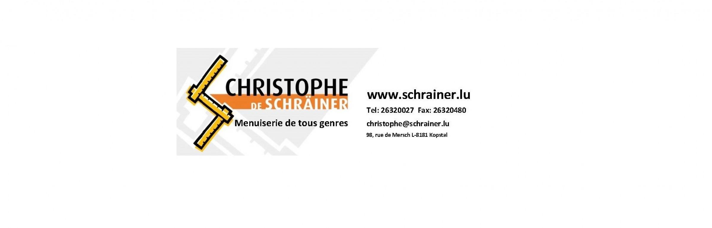 Banner christophe de Schräiner sarl.