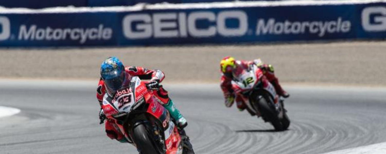 Ducati at Laguna Seca race 1