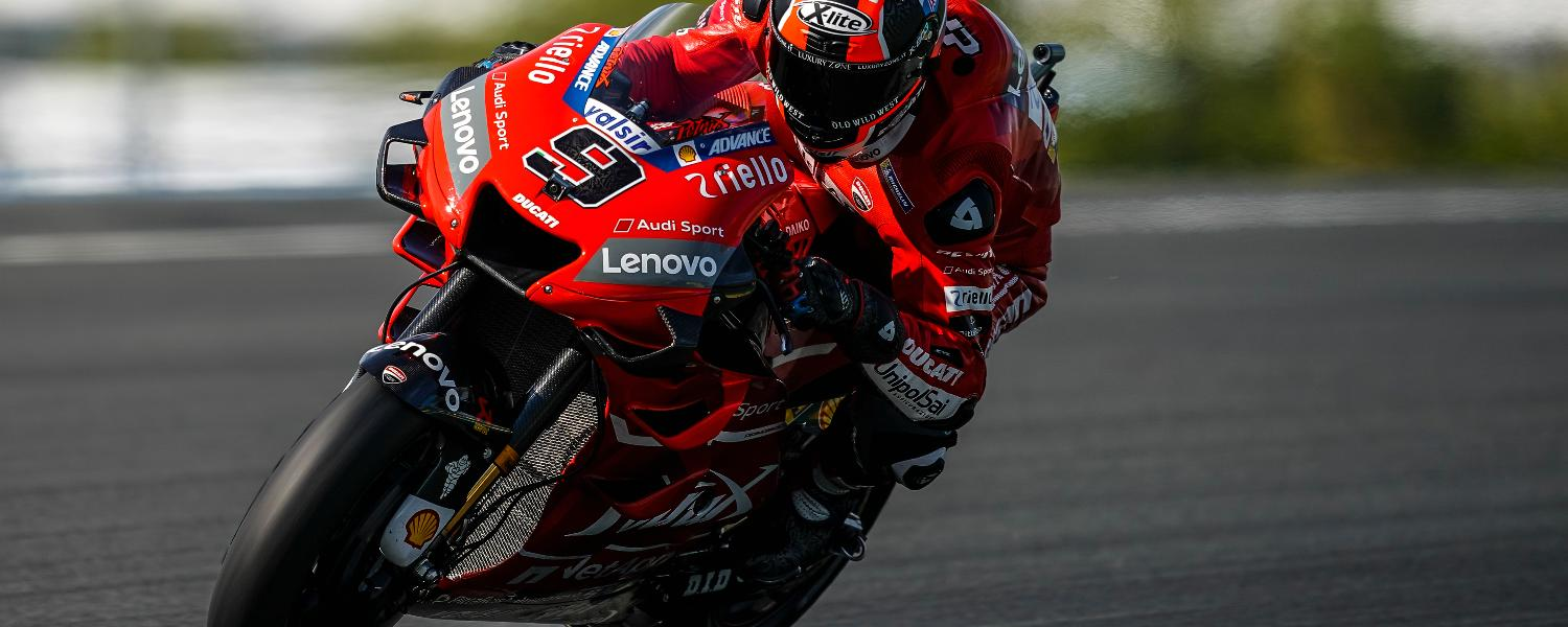 French GP: Dovizioso and Petrucci respectively fifth and sixth in Friday free practice at Le Mans