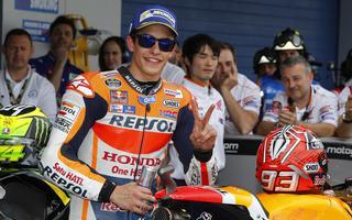 MotoGp, Jerez: Marquez warm up, Rossi second