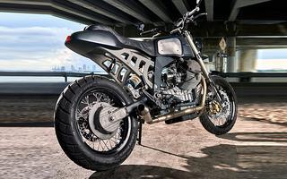 "MOTO GUZZI QUOTA 1100 ""EARTHQUAKE"" BY MOTO STUDIO: A STRANGE BEAUTY"