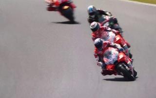 Dovizioso falls in Le Mans