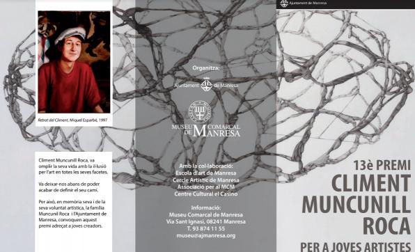 XIII Premi Climent Muncunill Roca per a joves artistes