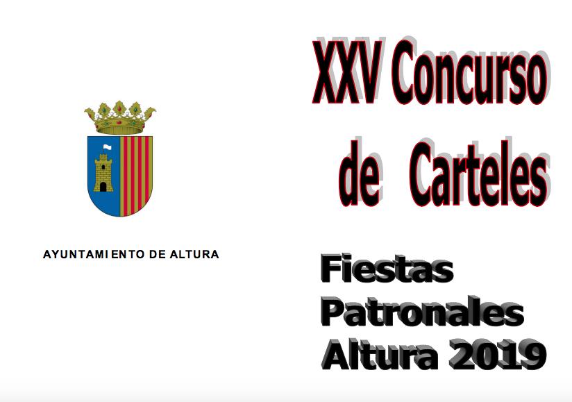 """XXV CONCURSO DE CARTELES """"FIESTAS PATRONALES 2019"""""""