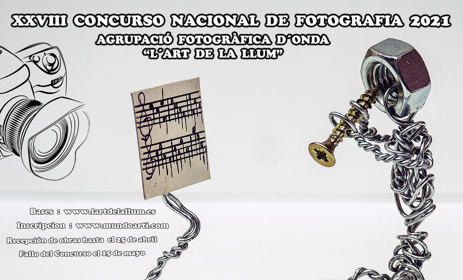 """XXVIII CONCURSO NACIONAL DE FOTOGRAFÍA 2021 """"L'ART DE LA LLUM"""""""