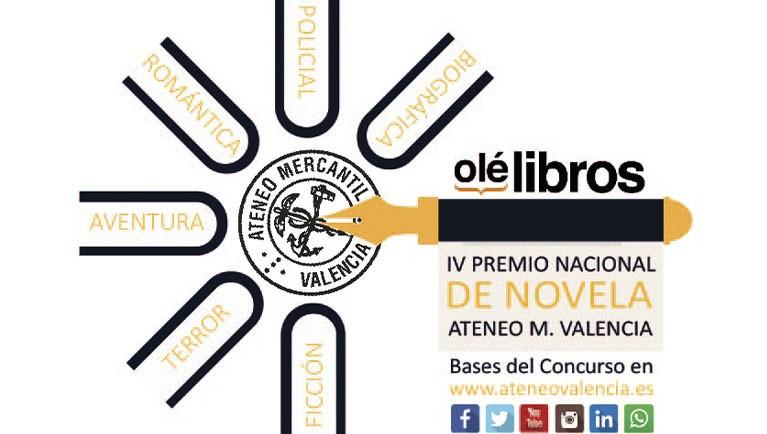 """IV PREMIO NACIONAL DE NOVELA """"ATENEO MERCANTIL DE VALENCIA"""" 2021"""
