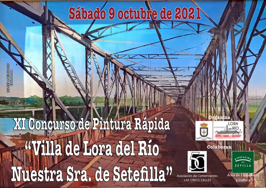 """XI Concurso de Pintura Rápida al aire libre """"Villa de Lora del Río – Nuestra Señora de Setefilla"""""""