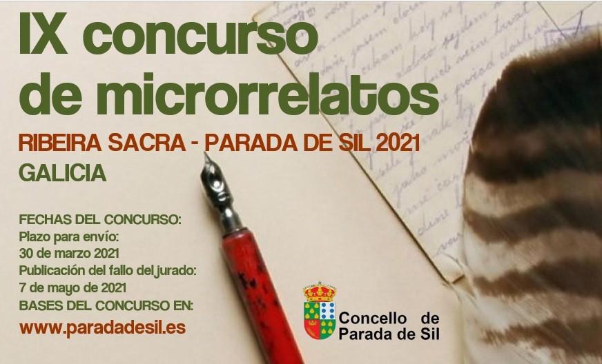 IX CONCURSO DE MICRORRELATOS RIBEIRA SACRA - PARADA DE SIL 2021