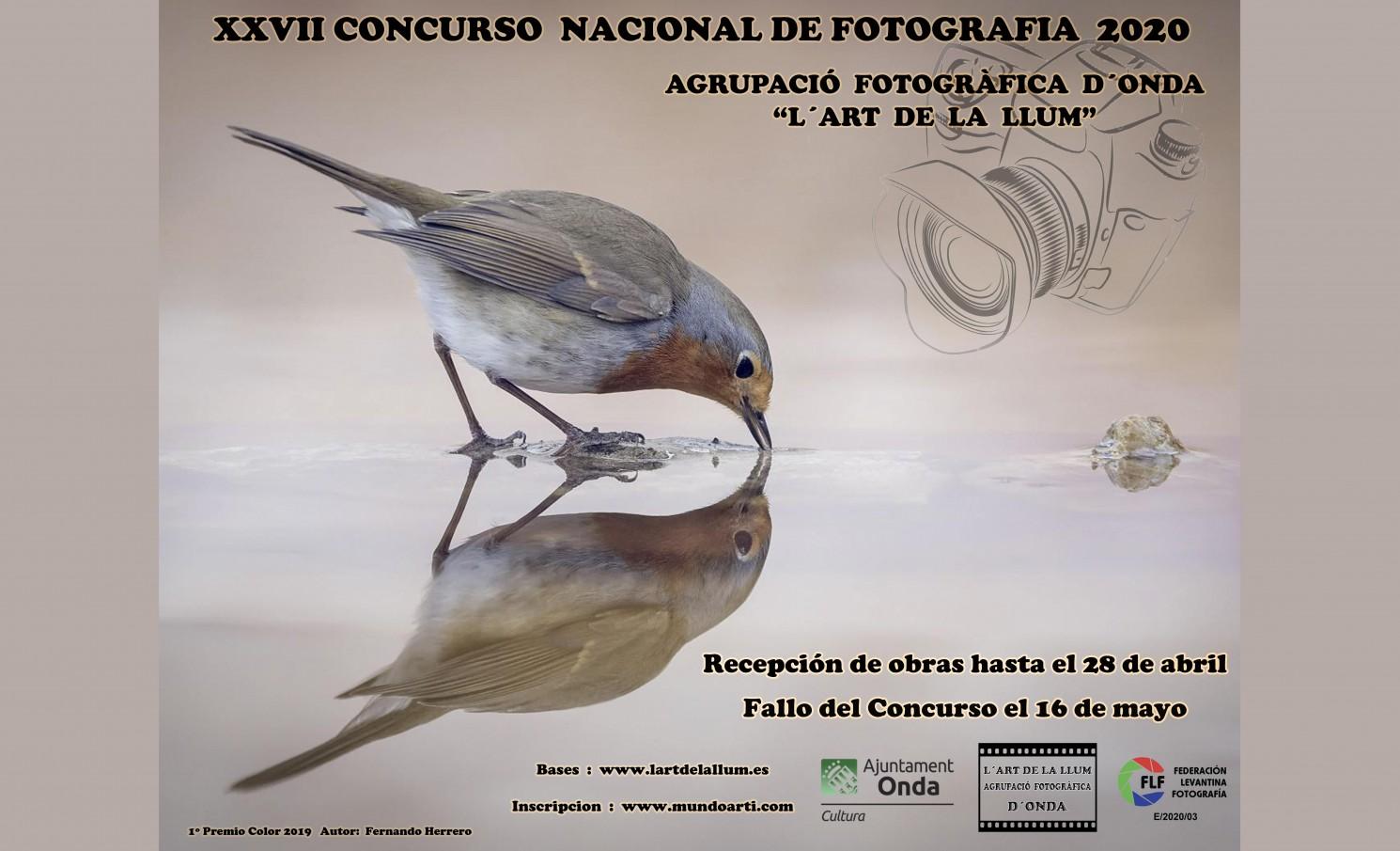 """XXVII CONCURSO NACIONAL DE FOTOGRÁFIA 2020 """"L'ART DE LA LLUM"""""""