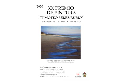 """XX PREMIO DE PINTURA """"TIMOTEO PÉREZ RUBIO"""" OLIVA DE LA FRONTERA 2020"""