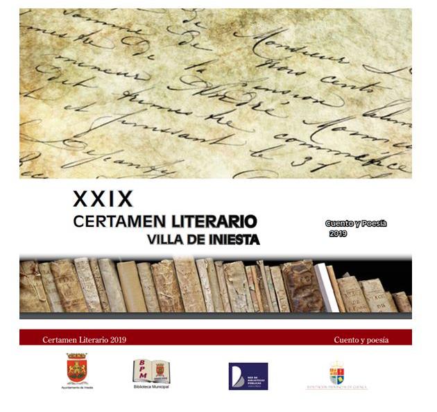 XXIX CERTAMEN LITERARIO VILLA DE INIESTA CUENTO Y POESIA