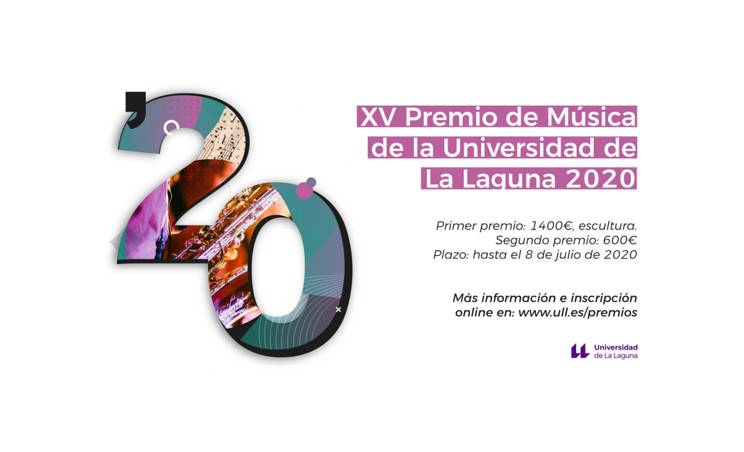 XV PREMIO DE MÚSICA DE LA UNIVERSIDAD  DE LA LAGUNA 2020