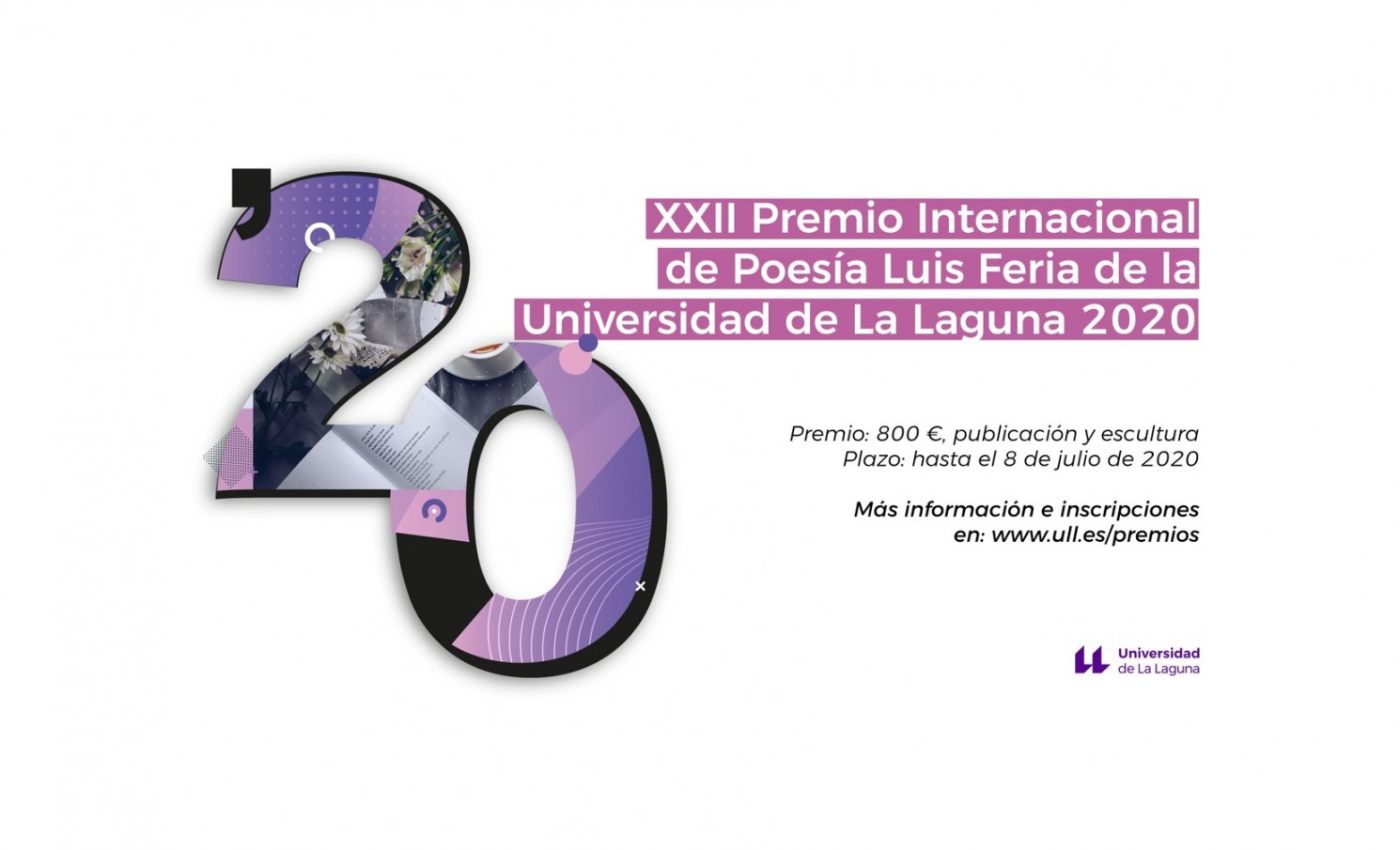 XXII PREMIO INTERNACIONAL DE POESIA LUIS FERIA  DE LA UNIVERSIDAD DE LA LAGUNA 2020