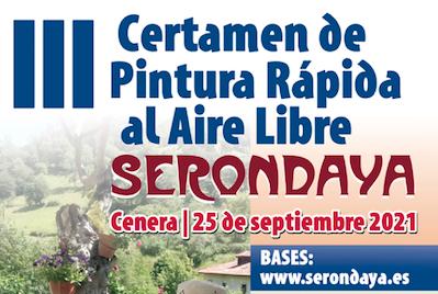 """III CERTAMEN """"SERONDAYA"""" DE PINTURA RÁPIDA AL AIRE LIBRE (CENERA)"""