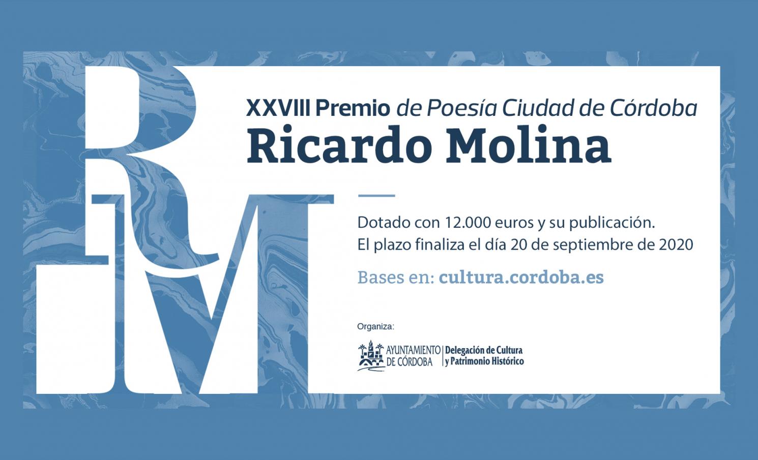 "XXVIII PREMIO DE POESÍA CIUDAD DE CÓRDOBA ""RICARDO MOLINA"""