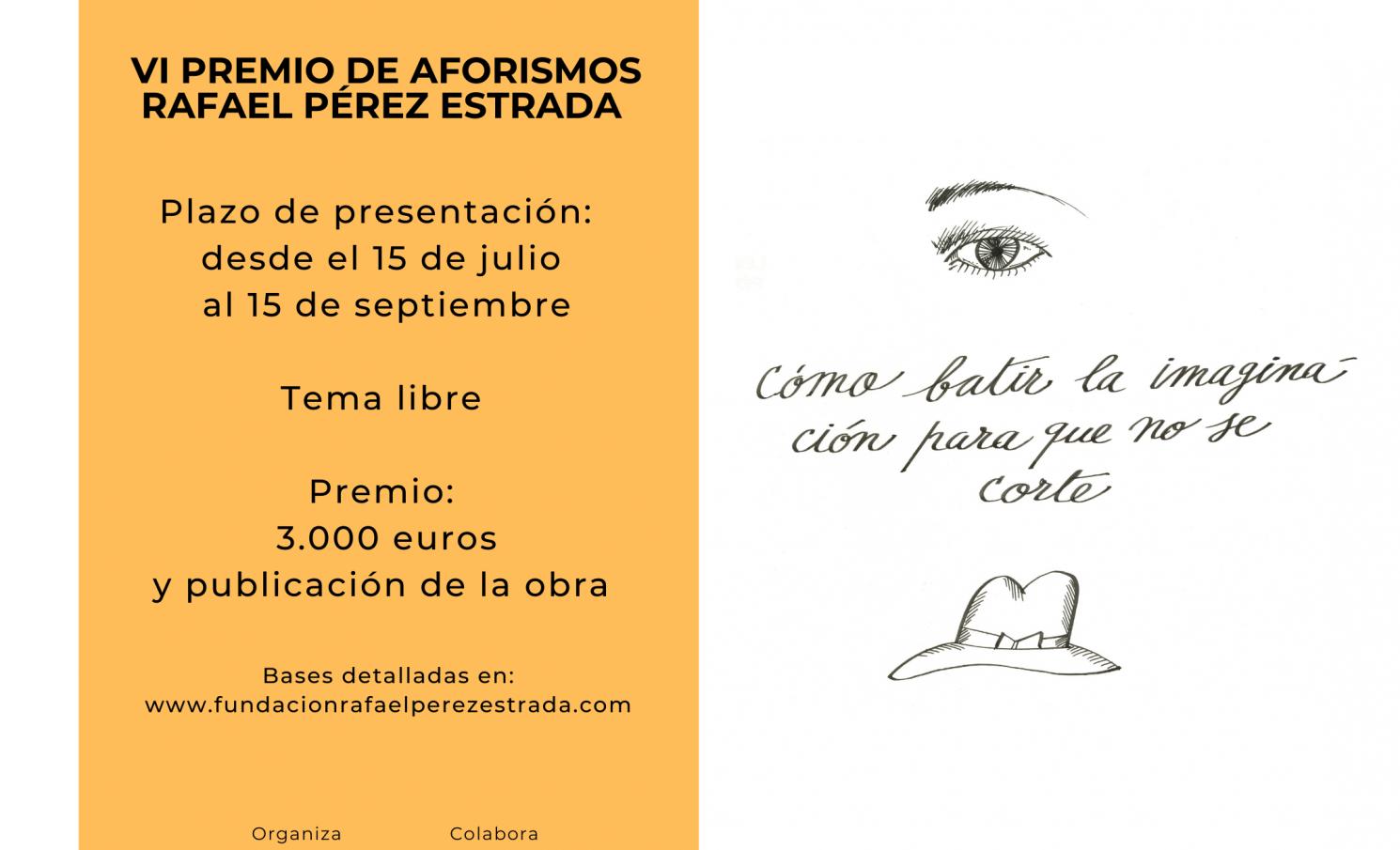 VI Premio de Aforismos Rafael Pérez Estrada 2021