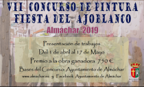 """CONCURSO DE PINTURA """"FIESTA DEL AJOBLANCO"""" ALMÁCHAR 2019"""