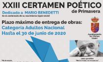 """XXIII CERTAMEN POÉTICO  """"PALOMA NAVARRO"""" EDICIÓN 2020"""