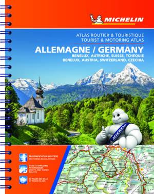 Allemagne, Benelux, Autriche, Suisse, Tchéquie : atlas routier et touristique = Germany, Benelux, Austria, Switzerland, Czechia : tourist & motoring atlas