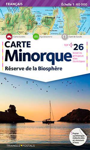Minorque : réserve de la biosphère : carte
