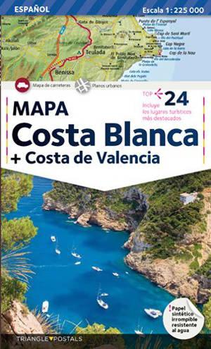 Costa Blanca, Costa de Valencia : mapa