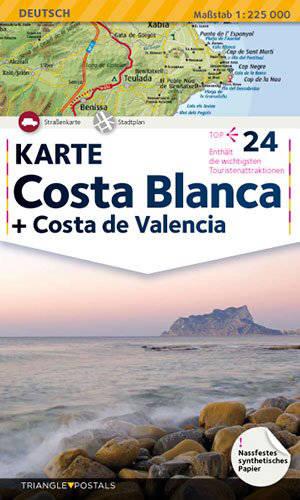 Costa Blanca, Costa de Valencia : Karte