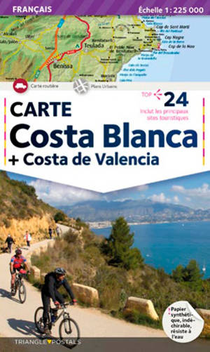 Costa Blanca, Costa de Valencia : carte