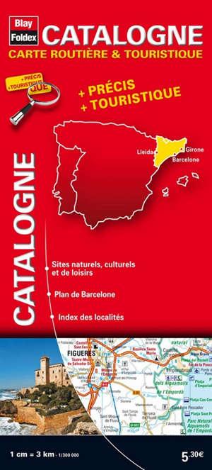 Catalogne : carte routière & touristique