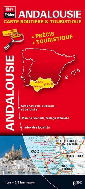 Andalousie : carte routière & touristique