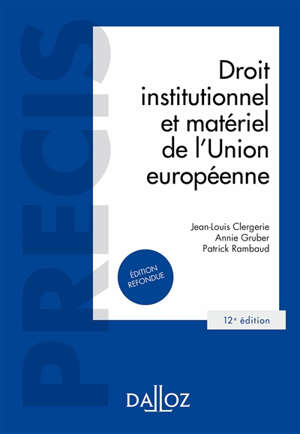 Droit institutionnel et matériel de l'Union européenne