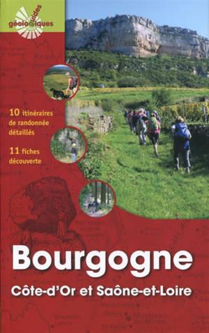 Bourgogne : Côte-d'Or et Saône-et-Loire : 10 itinéraires de randonnée détaillés, 11 fiches découverte