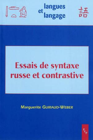 Essais de syntaxe russe et contrastive